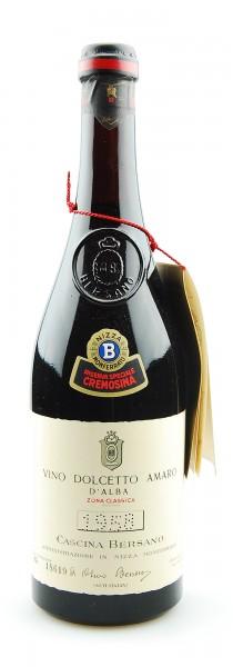 Wein 1958 Dolcetto Amaro d´Alba Bersano Riserva Speciale