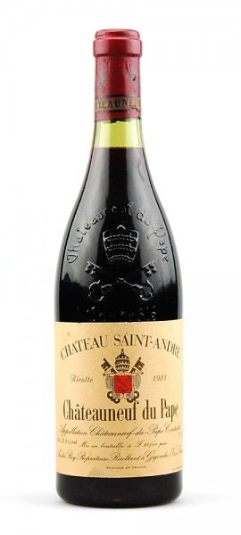 Wein 1981 Chateauneuf-du-Pape Chateau Saint-Andre