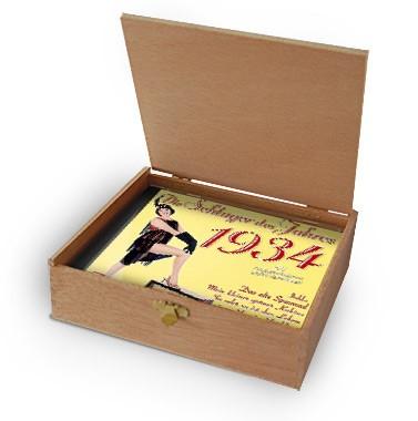 CD 1934 Schlager in Holzkiste mit Banderole und Siegel
