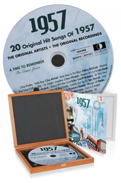 CD 1957 Musik-Hits in Luxusbox, auch mit Gravur!