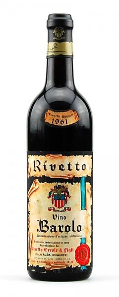 Wein 1961 Barolo Rivetto Riserva Speciale