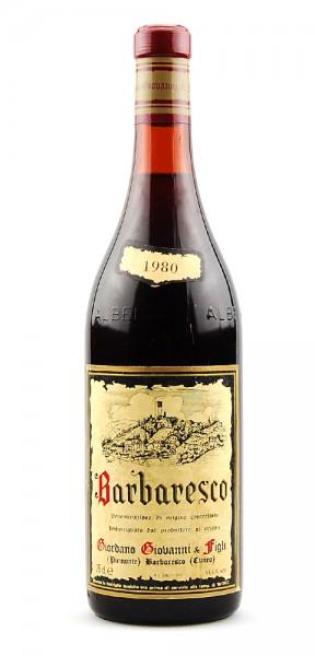 Wein 1980 Barbaresco Giovanni Giordano