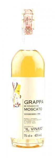 Grappa 1980 di Vinacce da Moscato Elio Beccaris