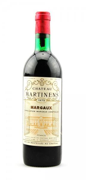 Wein 1975 Chateau Martinens Appelation Margaux