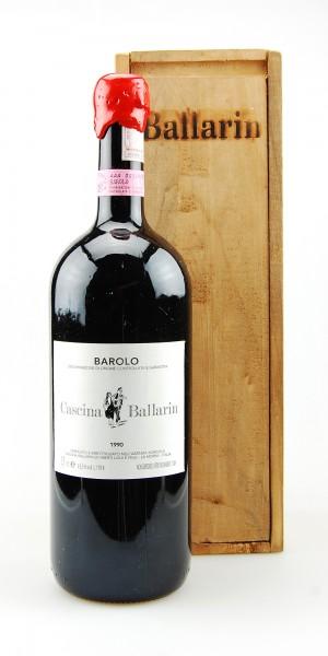 Wein 1990 Barolo Cascina Ballarin 1,5 l Magnum