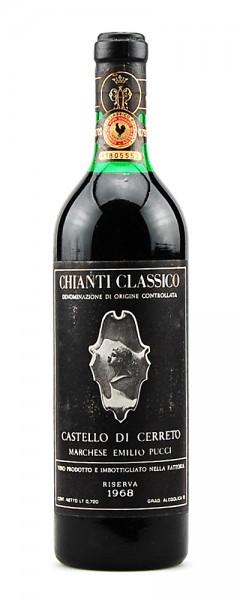 Wein 1968 Chianti Classico Riserva Castello di Cerreto