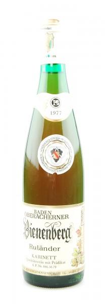 Wein 1977 Oberacherner Bienenberg Ruländer Kabinett