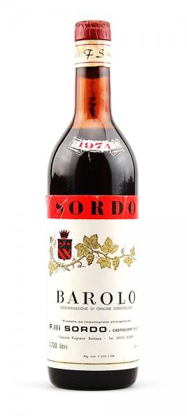 Wein 1974 Barolo Sordo