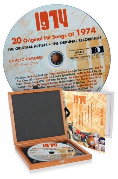 CD 1974 Musik-Hits in Luxusbox, auch mit Gravur!