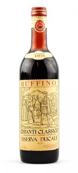 Wein 1974 Chianti Classico Ruffino Riserva Ducale