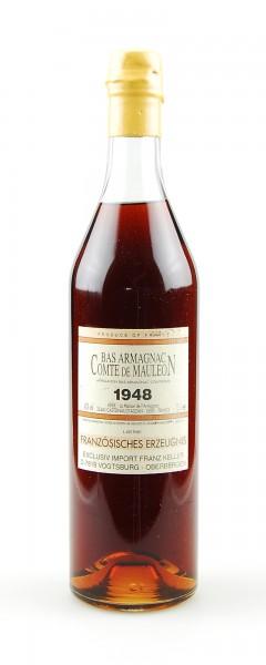 Armagnac 1948 Bas Armagnac Comte de Mauleon