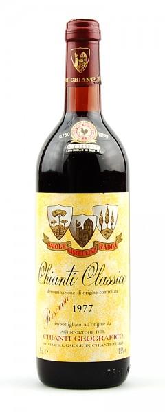 Wein 1977 Chianti Classico Geografico Riserva