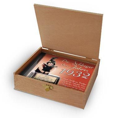 CD 1932 Schlager in Holzkiste mit Banderole und Siegel