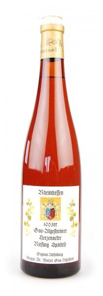 Wein 1963 Gau-Algesheimer Herzenacker Spätlese Riesling