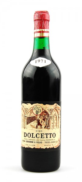 Wein 1971 Dolcetto Giovanna Nada