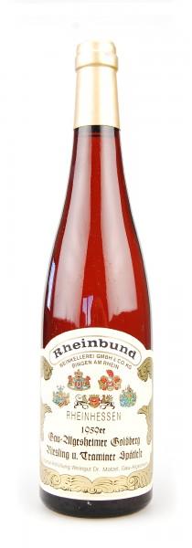Wein 1959 Gau-Algesheimer Goldberg Spätlese Riesling und Traminer