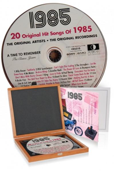 CD 1985 Musik-Hits in Luxusbox, auch mit Gravur!