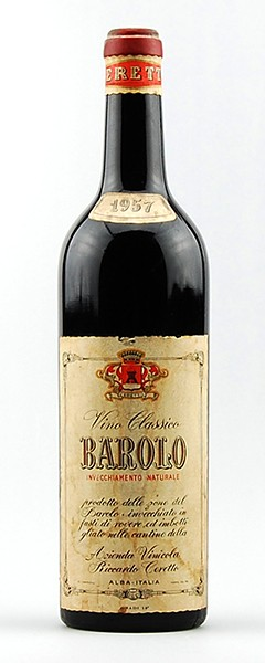 Wein 1957 Barolo Riccardo Ceretto Invecchiamento