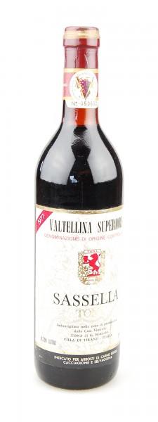 Wein 1977 Sassella Valtellina Superiore Tona