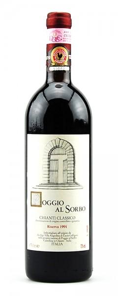 Wein 1991 Chianti Classico Riserva Poggio al Sorbo