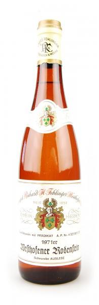 Wein 1971 Westhofener Rodenstein Auslese Scheurebe