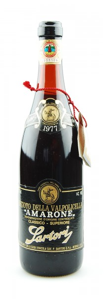 Wein 1977 Amarone Sartori Recioto della Valpolicella