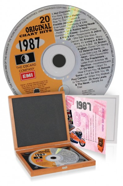 CD 1987 Musik-Hits in Luxusbox