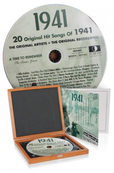 CD 1941 Musik-Hits in Luxusbox, auch mit Gravur!