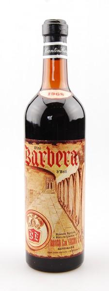 Wein 1968 Barbera d´Asti Borgo Cav. Ercole & Figli