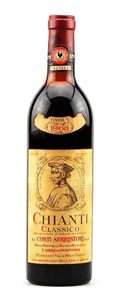 Wein 1968 Chianti Classico Conti Serristori Machiavelli