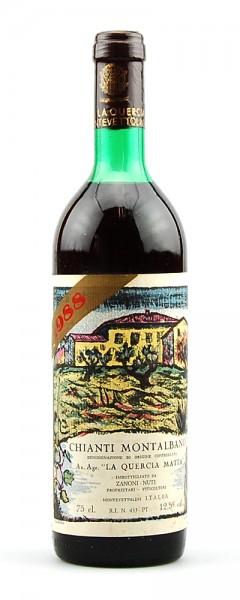 Wein 1988 Chianti Montalbano La Quercia Matta