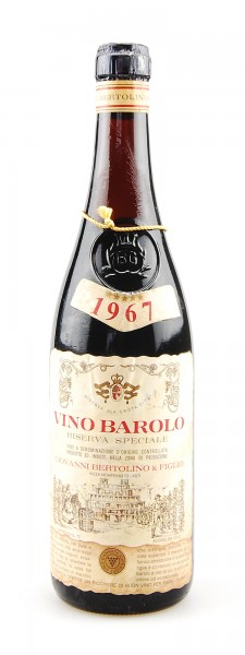 Wein 1967 Barolo Riserva Speciale G. Bertolino & Figlio