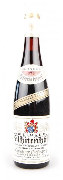 Wein 1972 Osthofener Klosterberg Beerenauslese Huxelrebe