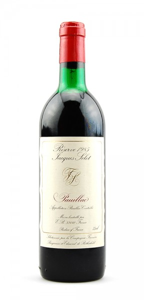 Wein 1985 Pauillac Reserve Jacques Selot