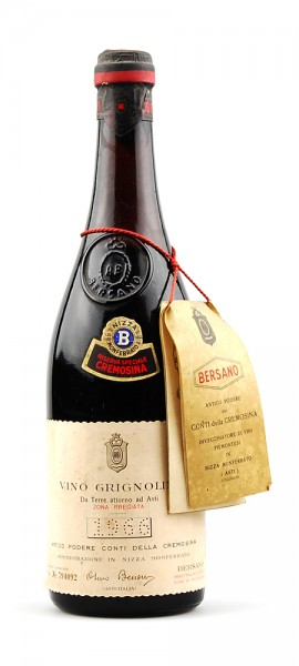 Wein 1966 Grignolino Bersano Cremosino Riserva Speciale