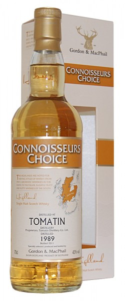 Whisky 1989 Tomatin Single Highland Malt Whisky