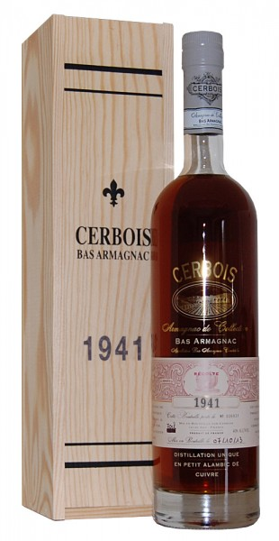 Armagnac 1941 Bas Armagnac Cerbois
