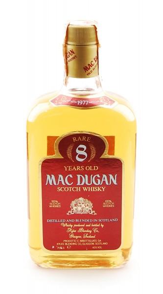 Whisky 1977 Mac Dugan Rare 8 Years Blended Scotch