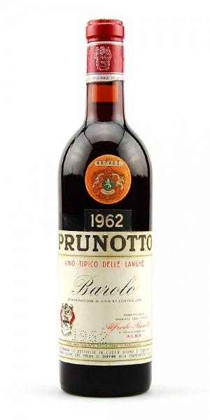 Wein 1962 Barolo Prunotto Vino Tipico delle Langhe