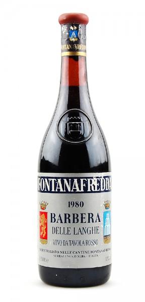 Wein 1980 Barbera delle Langhe Fontanafredda