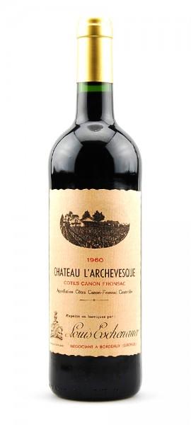 Wein 1960 Chateau L´Archevesque Canon Fronsac