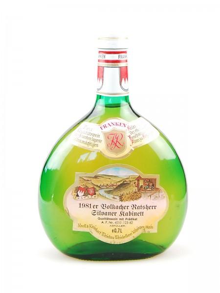 Wein 1981 Volkacher Ratsherr Silvaner Kabinett