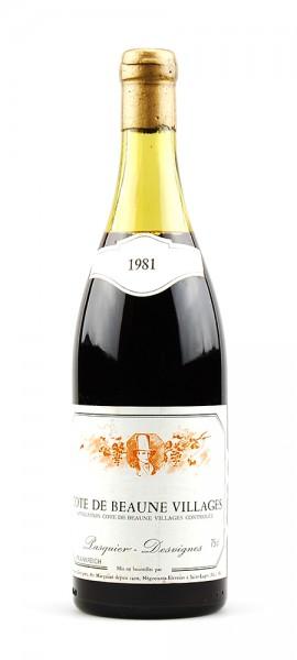 Wein 1981 Cote de Beaune Village