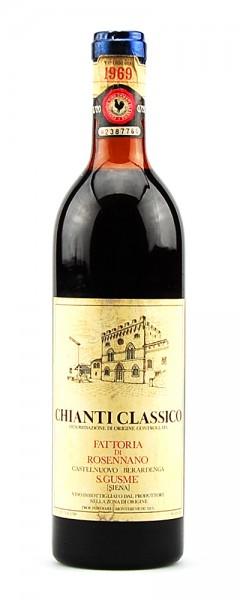 Wein 1969 Chianti Classico Riserva Rosennano