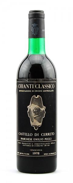 Wein 1972 Chianti Classico Castello di Cerreto Pucci