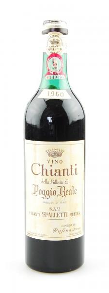 Wein 1960 Chianti Rufina Spalletti Poggio Reale