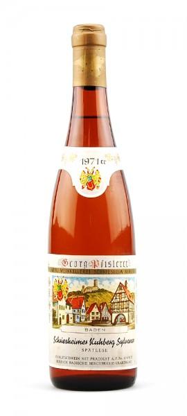 Wein 1971 Schriesheimer Kuhberg Sylvaner Spätlese