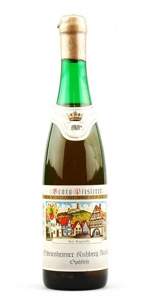 Wein 1969 Schriesheimer Kuhberg Riesling Spätlese