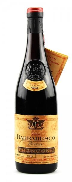 Wein 1965 Barbaresco Francone Riserva Numerata