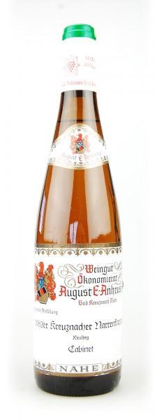 Wein 1963 Kreuznacher Narrenkappe Anheuser Riesling